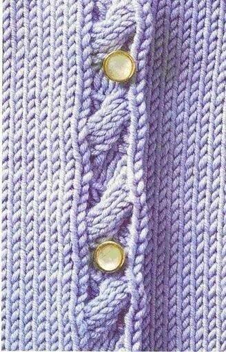 Интересные способы вязания планки изделия.