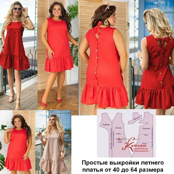 Простые выкройки для начинающих красивого летнего платья больших размеров и как его сшить