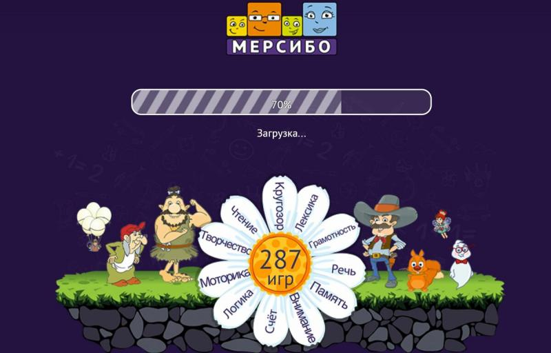 Развитие детей от 2-х лет с помощью онлайн игр Мерсибо