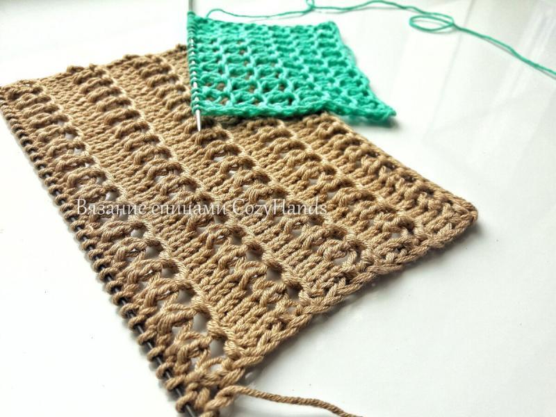 Структурная сетка спицами для вязания ажурных изделий