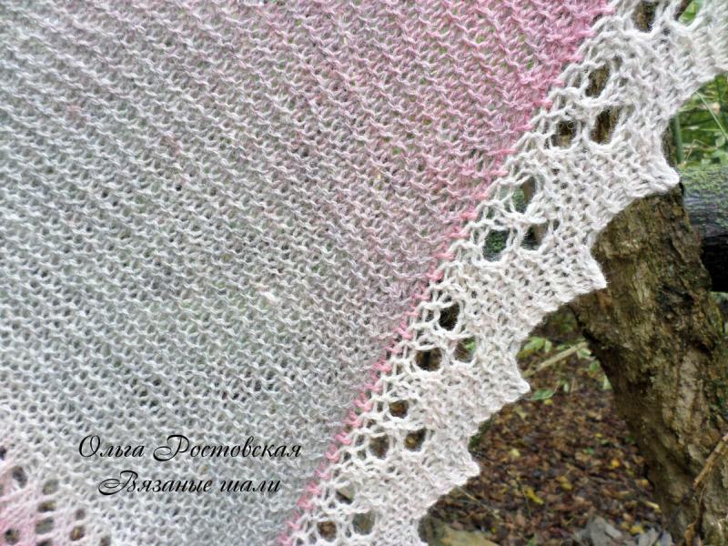 Треугольная шаль спицами из салфетки? Реально.