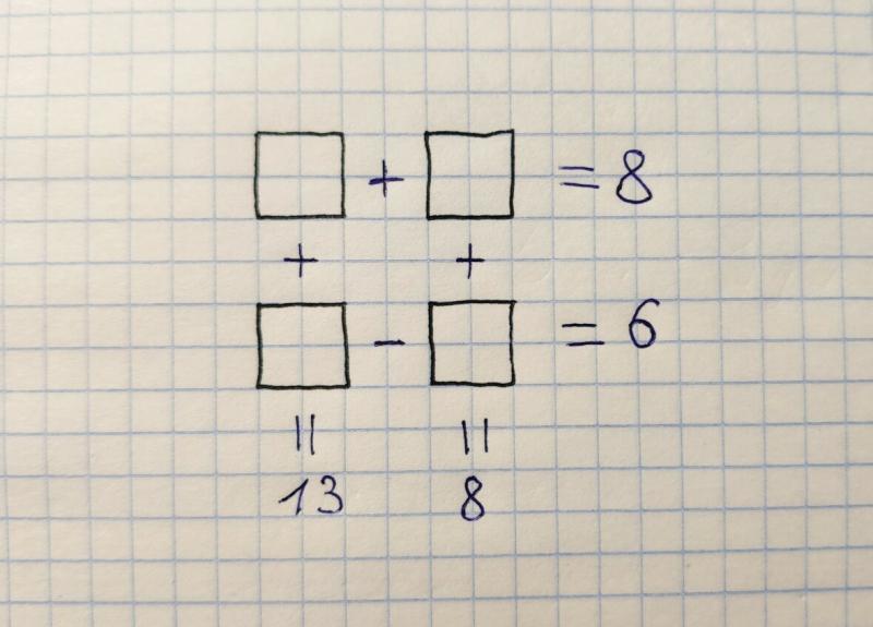Вставьте числа. Эта задача ввела в ступор учителя математики.