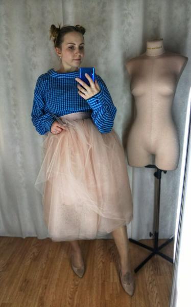 Выкройка многослойной юбки из фатина