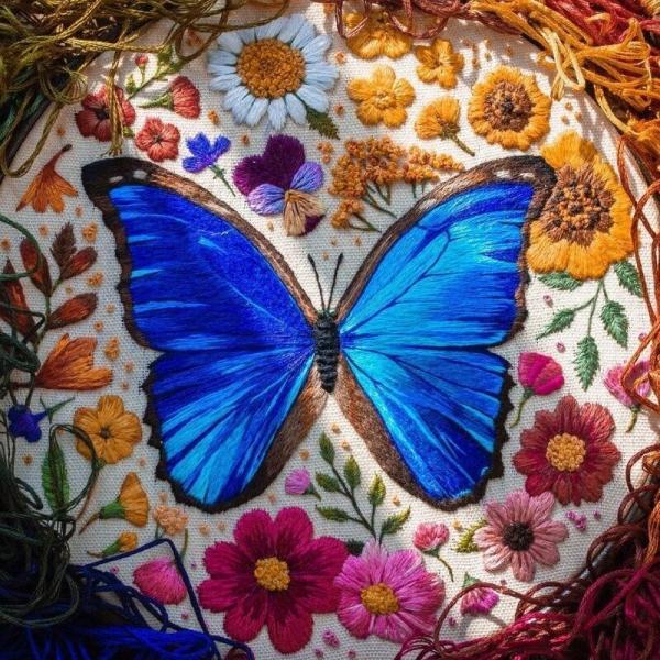 5 моих любимых работ мастера по вышиванию насекомых и зверюшек