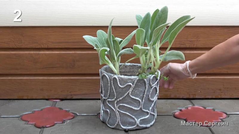 Из обычных пластиковых ведер получаются замечательные вещи для сада