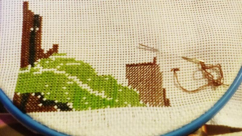 Как избежать перекоса канвы при вышивке полукрестом❓