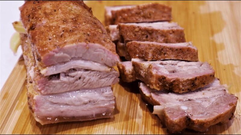 Лёгкий способ приготовления грудинки, всего двадцать минут и мясо готово