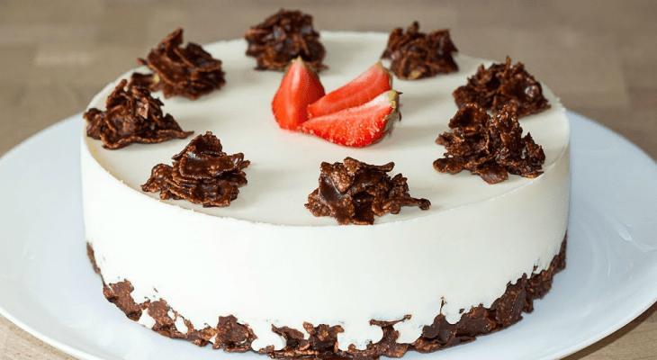 Низкокалорийный торт с суфле
