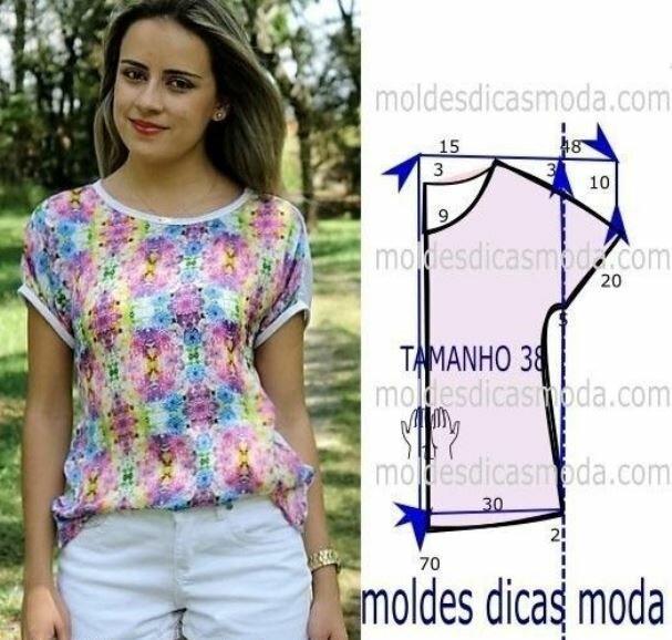 Самые простые выкройки летних блузок, справится начинающая швея