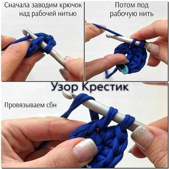 Сумка-шоппер крючком + схемы и МК.