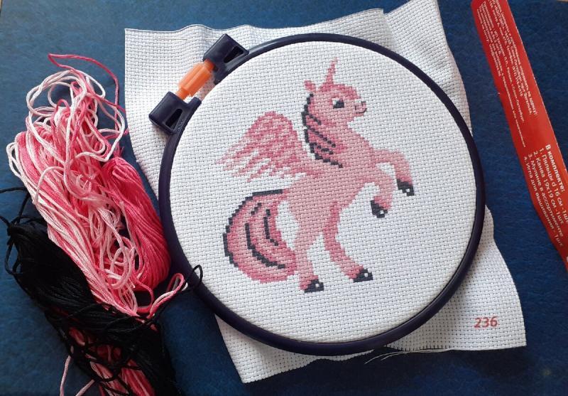 Подарила племяннице набор для вышивания, рассказываю в чем основная сложность вышивки
