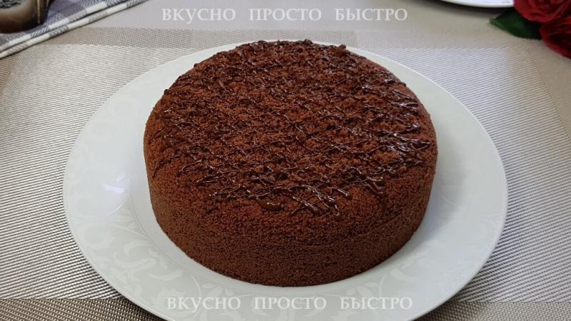 Шоколадный Райский торт без выпечки. Вкусный, нежный, шоколадно-шоколадный