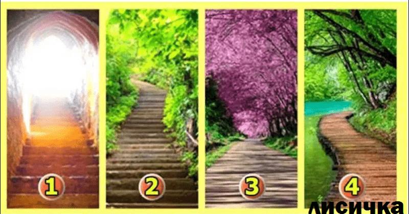 Выбери одну из 4 дорог, и твой выбор многе расскажет о твоей личности