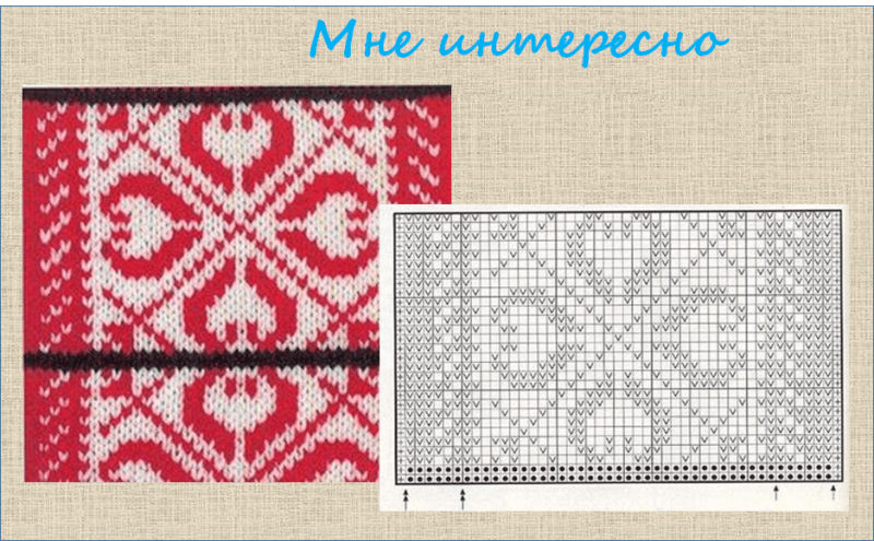 Еще 30 жаккардовых узоров, подходящих для вязания спицами жакетов оверсайз - в копилку мастерицы