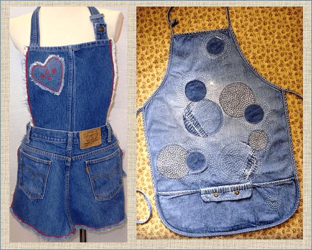 Еще 50 примеров как интересно применить для переделки старые джинсы