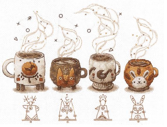 Кофейная вышивка от «Сделай своими руками»