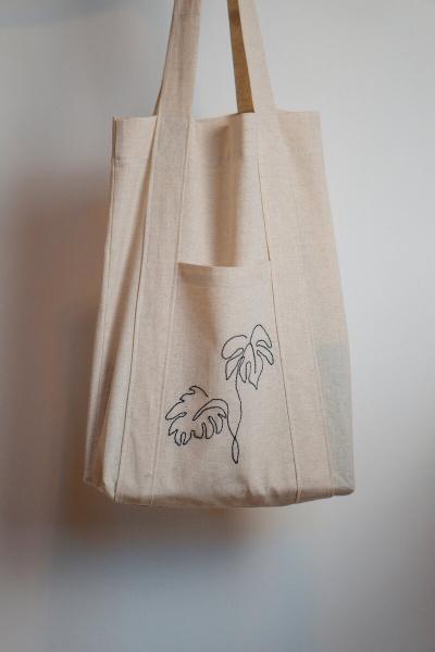 Показываю, как быстро и просто сшить сумку шоппер для дома самостоятельно. Есть выкройка