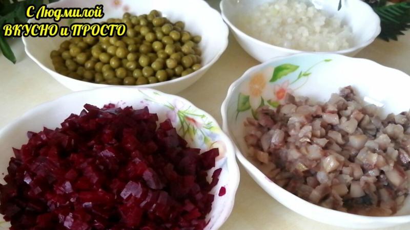 """Свёкла + селёдка = не """"шуба"""". В салате всего 4 недорогих ингредиента, а вкус невероятный. Готовить - проще не бывает"""