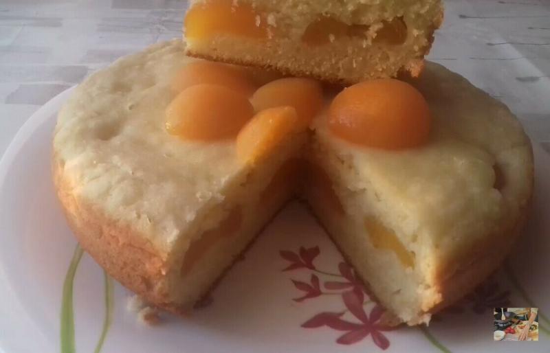 Вкусный пирог с абрикосом