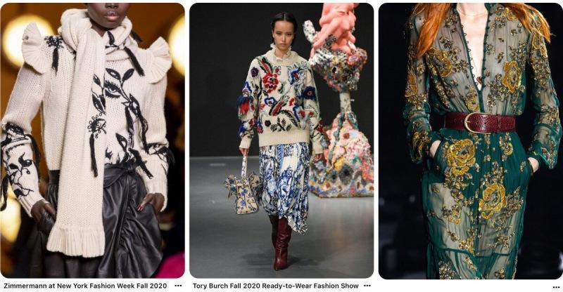 Итоги года 2020- вышивка от кутюр, лучшие модели люксовых брендов