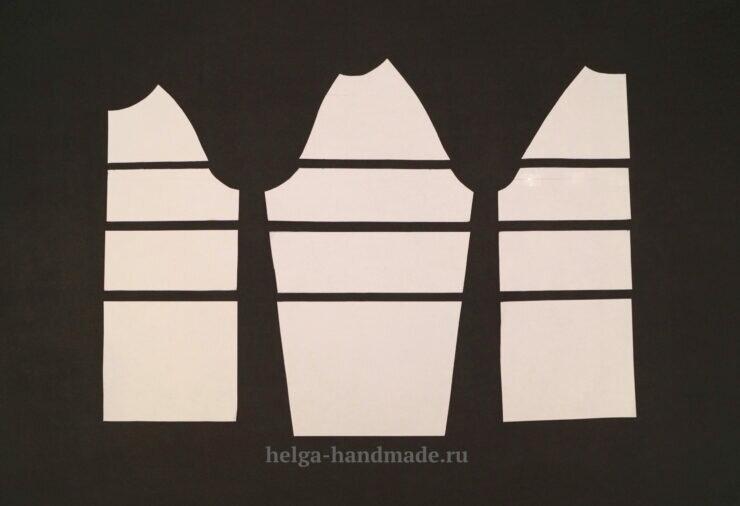 Как рассчитать совпадение полос проймы и рукава в изделиях стиля Колорблок