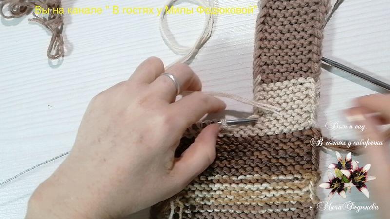 Как связать домашние тапочки спицами из остатков пряжи. Простой и быстрый способ