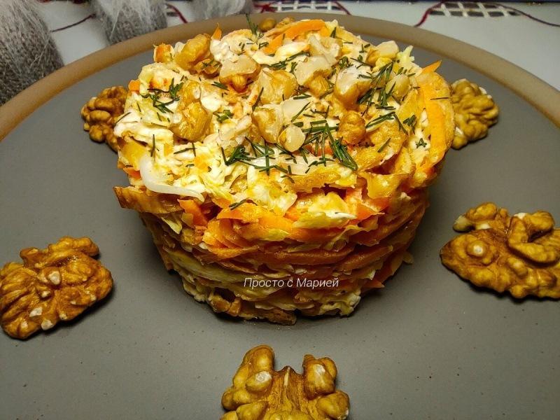 """""""Кореянка"""": наш коронный салат, без которого не обходится ни один праздник (не стекает на столе)"""