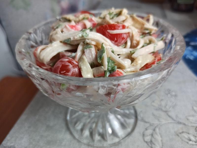 Никто не догадался, что салат из крабовых палочек. Как дорого подать дешевые крабовые палочки (очень вкусно)