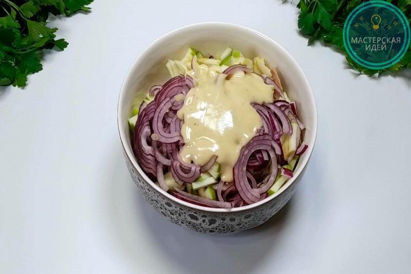 Приготовила салат с селёдкой по рецепту подписчицы: на другой день купила селёдку снова и повторила (просто объедение)