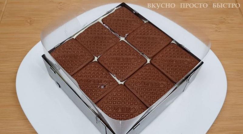 Торт из печенья. Потрясающе вкусный торт без духовки и без миксера