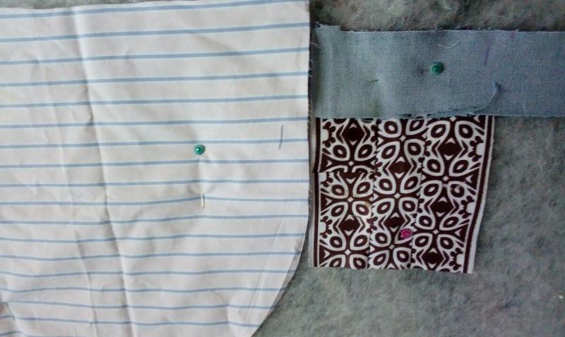 Две юбки, блузка, джинсы и пара новых лоскутков пригодились для покрывала на балкон