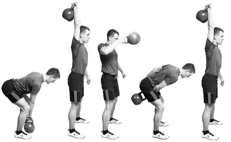 Как быстро прокачать все тело? 5 универсальных упражнений с гирей на все группы мышц