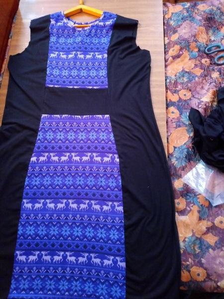 Увеличиваем платье на 2-3 размера. Ч.2 Собираем полочку и спинку .