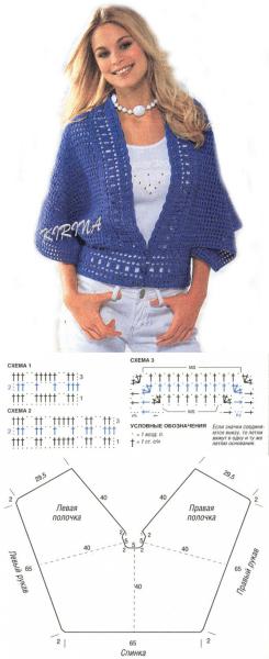 Варианты жакетов и пуловеров крючком!