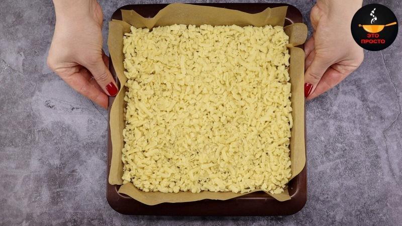 Готовлю только для близких: мой самый любимый тёртый пирог с нежной начинкой (пеку часто и не надоедает)