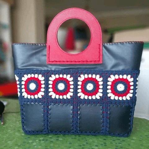 Кожаный лоскуток + вязальный крючок = сумка своими руками! Идеи и примеры для вдохновения! Выкройки и шаблоны для воплощения!