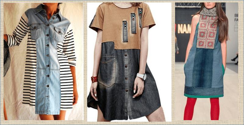Переделка: платье из старых джинсов и не только - 50 моделей плюс выкройки - в копилку мастериц