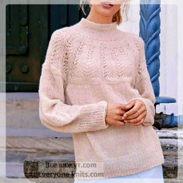 Пуловеры и круглые кокетки спицами. 20 вариантов для вашего вязания.
