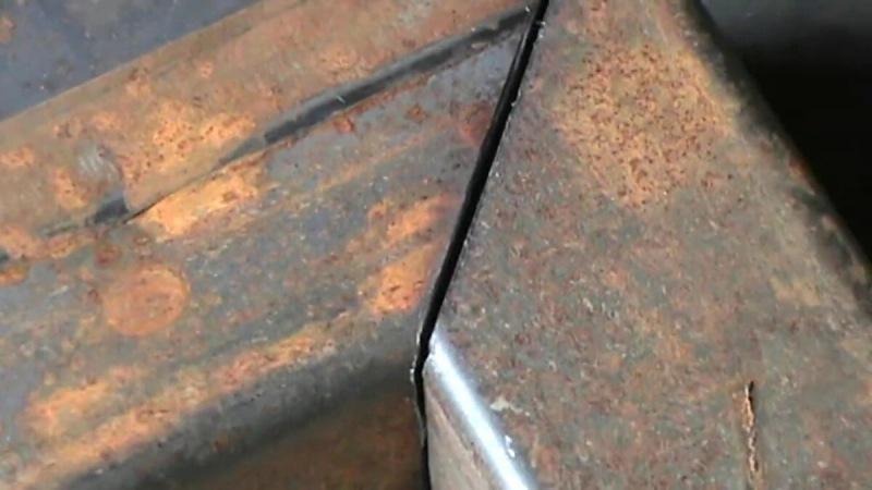 Секрет точного реза профильной трубы под 45 градусов. Вручную болгаркой