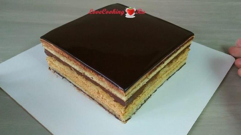 """Торт """"Опера"""" - шоколадно-кофейный десерт + видео"""