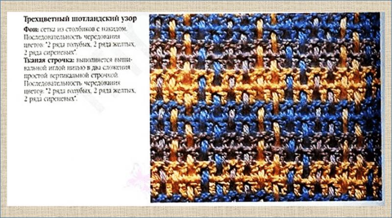 Имитация тканого полотна в вязании крючком и спицами - примеры того как сделать и примеры готовых работ