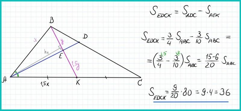 Математика ОГЭ и ЕГЭ. Геометрия. Задача на свойства биссектрисы и медианы треугольника. Простое решение.
