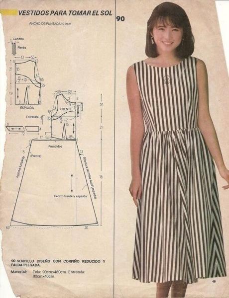 Платье из ситца в стиле бохо- идет всем ( а выкройки прилагаю)