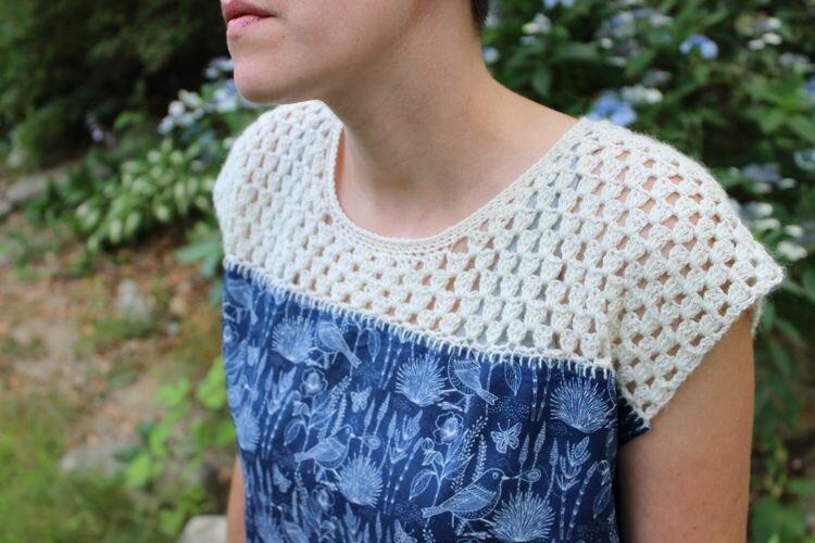 Показываю отличные идеи сочетания шитья и вязания