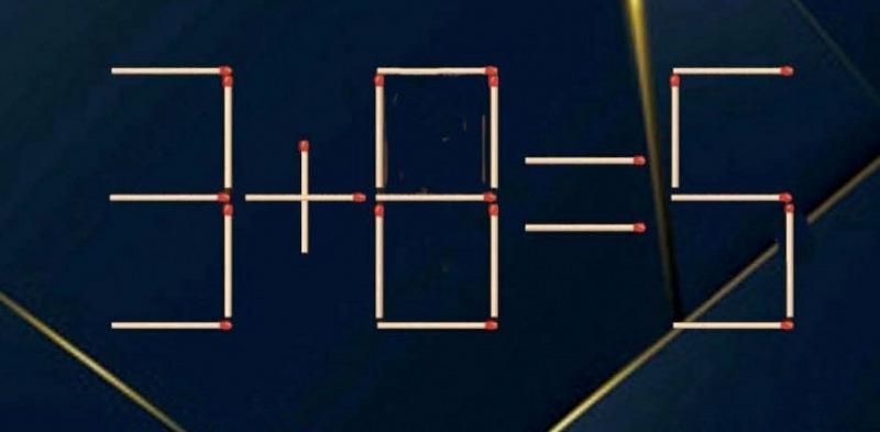 Решите головоломку, передвинув одну спичку за 30 секунд ⏰