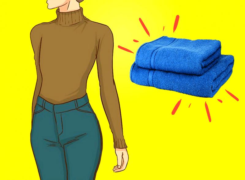 Похудеть в животе поможет простой трюк со скрученным полотенцем. (Убирает три месяца обжорства)
