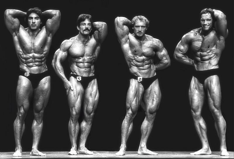 """Самая невразумительная победа Арнольда Шварценеггера на """"Мистер Олимпия"""". Смотрим на его форму и форму других атлетов"""