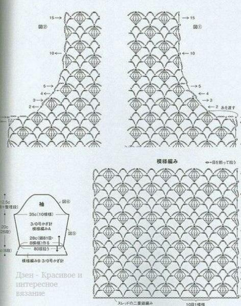 Женские пуловеры крючком со схемами