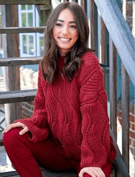 Красивый пуловер оверсайз спицами. Пуловер спицами, схемы и описание.