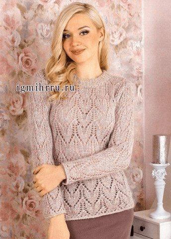 Подборка ажурных пуловеров спицами. Пуловеры спицами, схемы и описание.